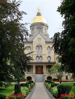 The main building on the campus of Notre Dame University in Notre Dame, Ind., where President Obama has been invited to speak and will receive an honorary degree.