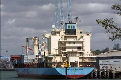 The U.S.-flagged Maersk Alabama docked safely in Kenya after a days-long struggle against Somali pirates.