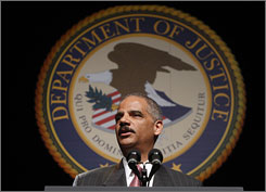 "U.S. Attorney General Eric Holder, shown speaking in Washington, D.C., last month, has said the USA has been ""a nation of cowards"" when it comes to talking about race."