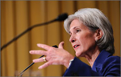 "The notion that a public health plan ""is really the stalking horse"" for a government-run system ""is not accurate,"" says Health and Human Services Secretary Kathleen Sebelius."