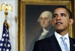 President Barack Obama, shown at the White House on April 24, faces major challenges in the coming months.