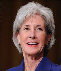 The Senate confirmed Kansas Gov. Kathleen Sebelius as U.S. secretary of Health and Human Services on Tuesday.