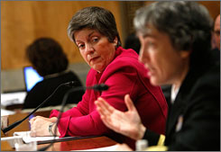 Homeland Security's Janet Napolitano defends methods for finding people infected with swine flu trying to enter the USA.