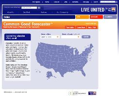 LiveUnited.org/forecaster allows users to play with state and county high school graduation rates, college attendance and college graduation rates to predict the effect on the population's health, income and crime levels.