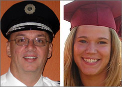 The second day of a National Transportation Safety Board hearing into a Feb. 12 plane crash outside Buffalo, focused on the selection and training of the pilot, Marvin Renslow, left, and the first officer, Rebecca Shaw, right. Both died in the crash that left 50 people dead.