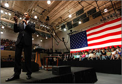 President Obama told an audience in Rio Rancho, N.M., on Thursday that he wants Congress to pass a credit card reform bill.