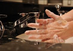 Keep it up: Health officials hope the upswing in hand-washing continues as the flu outbreak subsides.