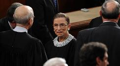 Supreme Court Justice Ruth Bader Ginsburg, shown at the Capitol in February, was one of two dissenters.