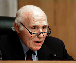 Sen. Herb Kohl, D-Wis., seen here on Capitol Hill in March 2007, is chairing a hearing of the Senate Special Committee on Aging focused on the viability of Americans' pensions.