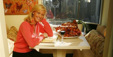 "Semi-Homemade Cooking host Sandra Lee at a table in her New York City home. To save money, ""plan your meals out for the week and make a list that you stick to. It prevents impulse purchases,"" she suggests."