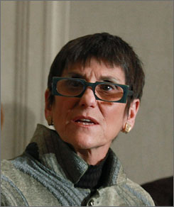 Rep. Rosa DeLauro, D-Conn., seen here speaking on Capitol Hill in Washington on Feb. 4, says she is not impressed with the FDA's new proposals to boost food safety.