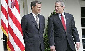 John Roberts and President George W. Bush had an immediate rapport.