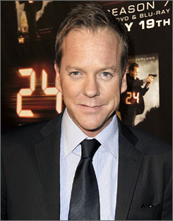 "Kiefer Sutherland, seen here at the screening of the season finale for Fox's ""24"" May 12 in L.A., has resolved his differences with Jack McCollough, the fashion designer he's accused of head-butting in New York according to a statement released to the Associated Press."