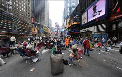 Five blocks of New York City's Broadway has been closed to vehicle traffic in Times Square to create a pedestrian-friendly zone until the end of the year.
