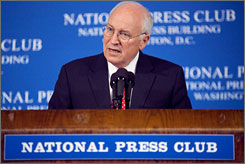 Former Vice President Dick Cheney, whose daughter is a lesbian, said during a speech at the National Press Club in Washington on Monday that he supports gay marriage.