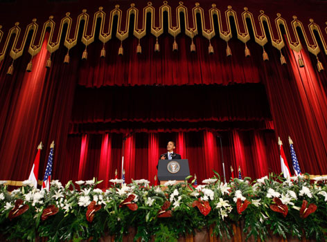 "President Obama delivers an address at Cairo University in Egypt on Thursday, calling for ""a new beginning"" between the United States and the Muslim world."