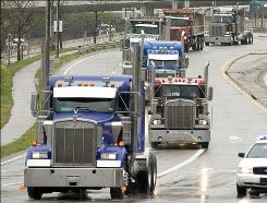 Federal law limits the weight and length of 18-wheeler trailers on the 47,000-mile U.S. interstate highway system.