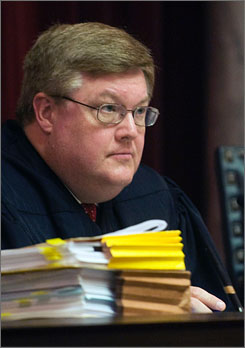 The Supreme Court ruled that West Virginia Supreme Court Justice Brent Benjamin, above, should have withdrawn from a dispute involving a coal company whose executive had contributed to his campaign.