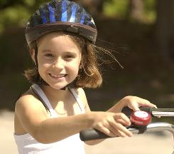 Getting children and teens to wear bike helmets can sometimes be a chore for parents.
