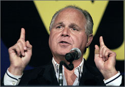 "Of those polled, 13% said Rush Limbaugh was the ""main person"" who speaks for the Republicans today."