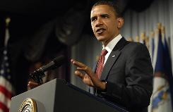 President Obama talks about his health care proposals at  the American Medical Association's annual meeting Monday in Chicago.