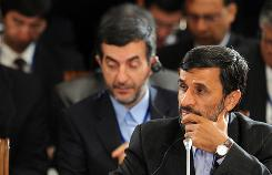 Iranian President Mahmoud Ahmadinejad attends a meeting of the Shanghai Cooperation Organization in Yekaterinburg, Russia, on Tuesday.