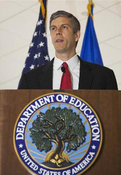 Under Secretary of Education Arne Duncan, the government has pressured states that prohibit student test scores from being used to evaluate teachers.