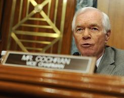 Republican Sen. Thad Cochran of Mississippi attends a hearing on the Defense Department budget on June 9. Only California received more stimulus money from the Army Corps of Engineers than Mississippi, although Cochran said he did not contact the corps about stimulus spending.