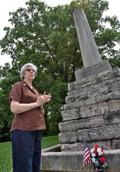 "Patty Choate of the Tennessee Lewis and Clark Trail Heritage Foundation says of Meriwether Lewis' mysterious death, ""You want to know, and you don't want to know."""