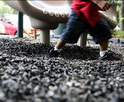 Good for preventing injury: But recycled rubber can be contaminated with lead, according to EPA documents.