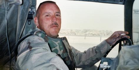 Sgt. David L. Moore during his National Guard service in Iraq in a photo provided by his brother Steve. The guardsman's post-war life was plagued by health problems until he died in 2008 of lung disease at age 42.