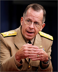 "Joint Chiefs Chairman Adm. Michael Mullen told reporters, ""It's important to start to turn the tide in the next 12 to 18 months."""