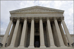 The U.S. Supreme Court in Washington has ruled in favor of a group of white firefighters in New Haven, Conn., who alleged they were unfairly denied promotions because of race.