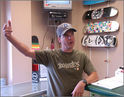 Brian Ziegelheafer owns a skateboard shop in Gaffney, S.C., across from a furniture store where two were killed.
