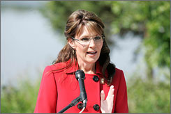 Alaska Gov. Sarah Palin announced Saturday in Wasilla, Alaska, that she will be stepping down from her position effective July 26.