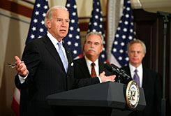 Vice President Biden announced that the nation?s hospitals have agreed to give up $155 billion in projected Medicare and Medicaid payments over the next decade to help finance the administration?s plan.