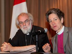 Archbishop of Canterbury Rowan Williams and Katharine Jefferts Schori, head of the Episcopal Church, in 2007. At this year's 10-day Episcopal meeting, they'll focus on poverty and global development.