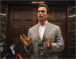 """The IOUs are one more reason to make sure we get the budget done as quickly as possible because then we don't need the IOUs,"" California governor Arnold Schwarzenegger talks said at the Capitol in Sacramento, Calif. on Friday."