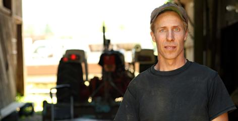 """Joseph Gabiou, on his Wobbly Cart farm in Rochester, Wash., says if you plants 40 crops and three or four fail, it's okay. """"Tomatoes last year did very poorly, weather wise. It was the cabbage that did great  it was a cold year,"""" says the 32-year-old, who represents a movement in agriculture that hasn't been seen since the turn of the last century."""