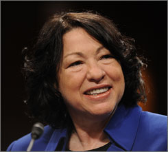 The Senate Judiciary Committee began its confirmation hearing for Supreme Court nominee Sonia Sotomayor on Monday.