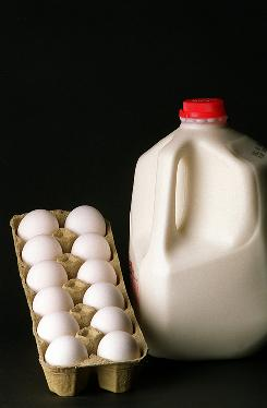 """Milk is off the charts"" in terms of nutrition for price, says Dr. Adam Drewnowski, and eggs are rich in protein."