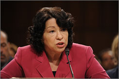 Supreme Court nominee Sonia Sotomayor was again before the Senate Judiciary Committee on Capitol Hill on Thursday for her confirmation hearing.