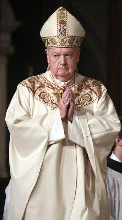 Cardinal Edward Egan celebrates his final Easter Mass as head of the Roman Catholic Archdiocese of New York, in St. Patrick's Cathedral in Manhattan, New York, April 12, 2009.