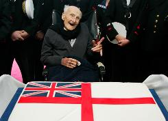 Henry Allingham, who was the world's oldest man when he died on Saturday, celebrates his 113th birthday. Allingham was one of the last remaining World War I veterans.