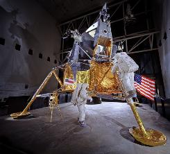 A lunar module is seen on display at the National Air and Space Museum in this undated file photo.