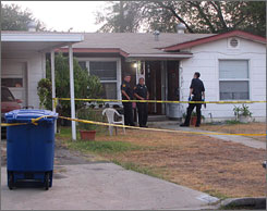 San Antonio, Texas, police investigate a home where they say a mother killed her infant.