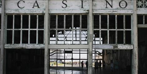 The Casino in Asbury Park, N.J., never housed gambling but did have a carousel and a roller rink. A flea market was there in the 1990s. Now it symbolizes the city's decline.