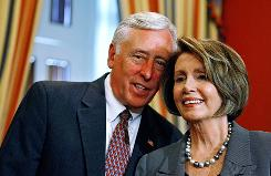 "In a column published in USA TODAY on Monday, House Speaker Nancy Pelosi and House Majority Leader Steny Hoyer described the actions of some health care overhaul opponents as ""un-American."""