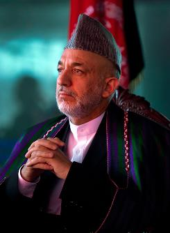 President Hamid Karzai faces Afghan voters in Thursday's election. He's considered the frontrunner, despite widespread dissatisfaction with his government.
