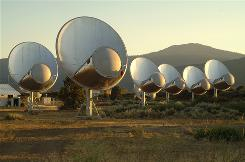 The SETI Institute's Allen Telescope Array is a collection of 42 antennas in Northern California that seeks out deep-space radio messages that could be broadcast by an advanced civilization.